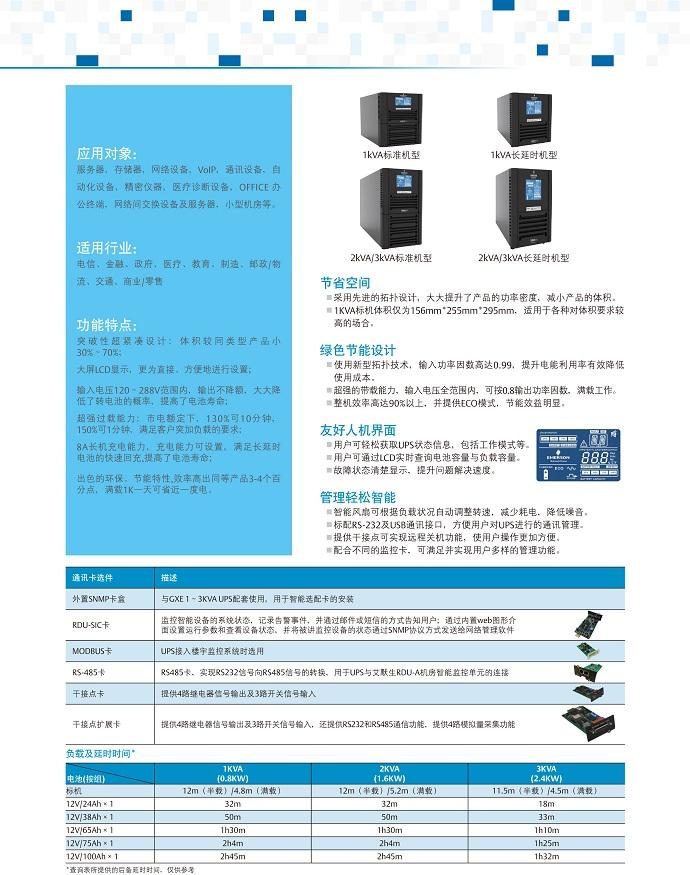 爱默生GXE系列1-3KVA
