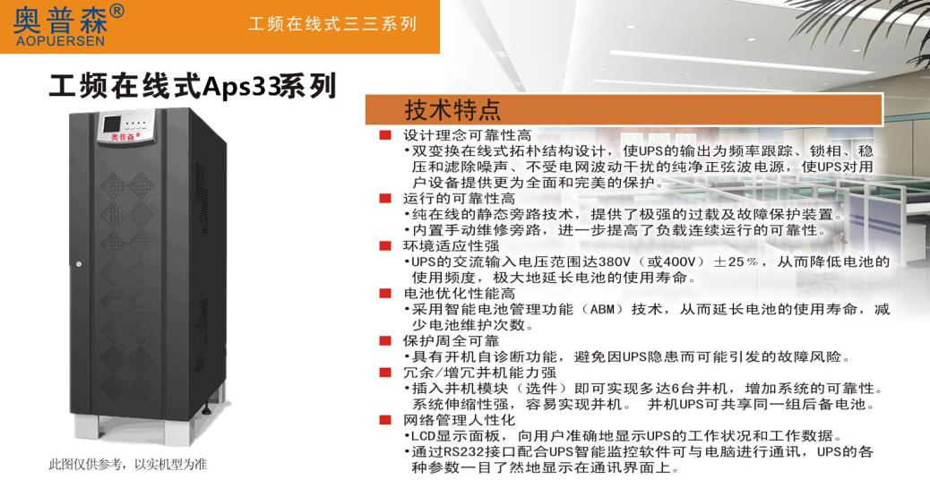 奥普森工频在线式三三Aps33系列